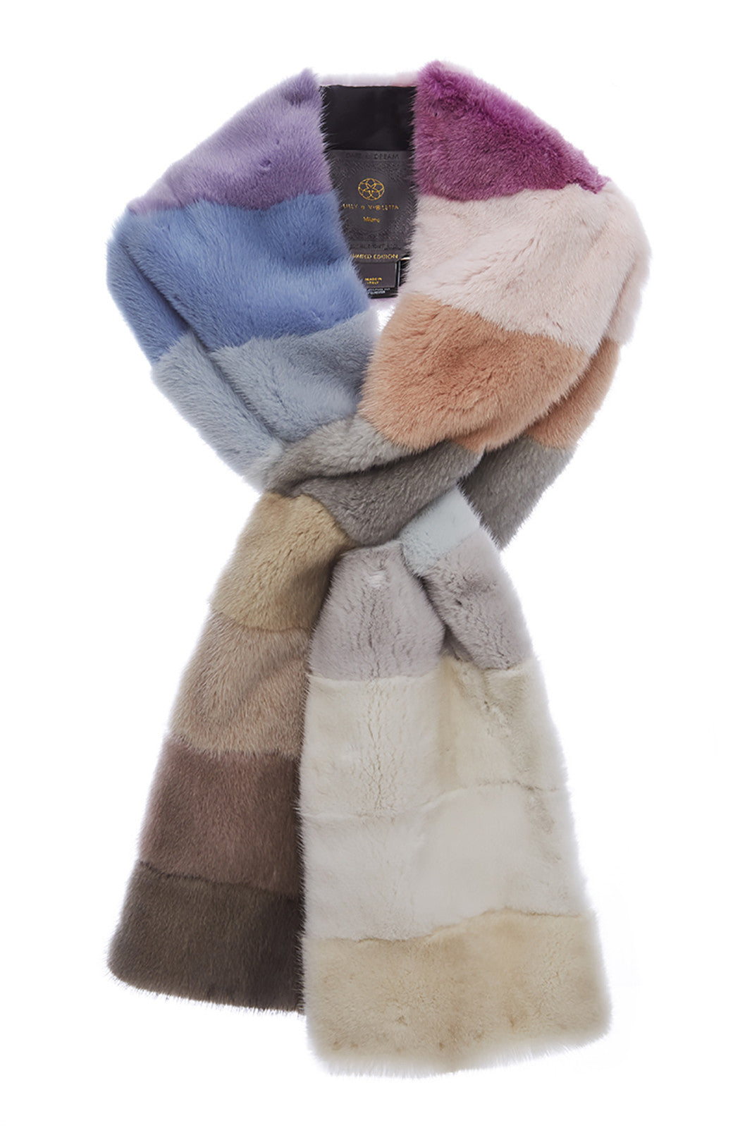 womens multi colour mink scarf rainbow