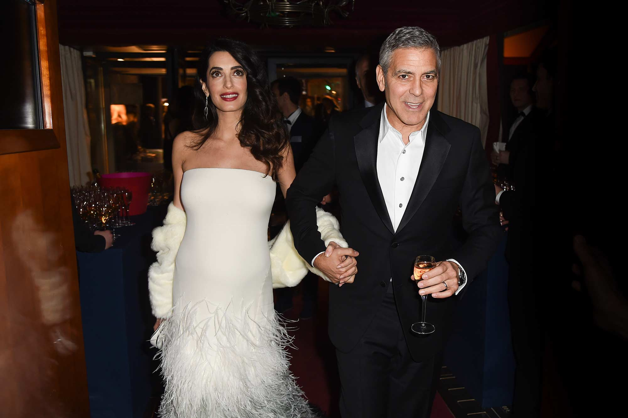 Amal Clooney in Real Fur