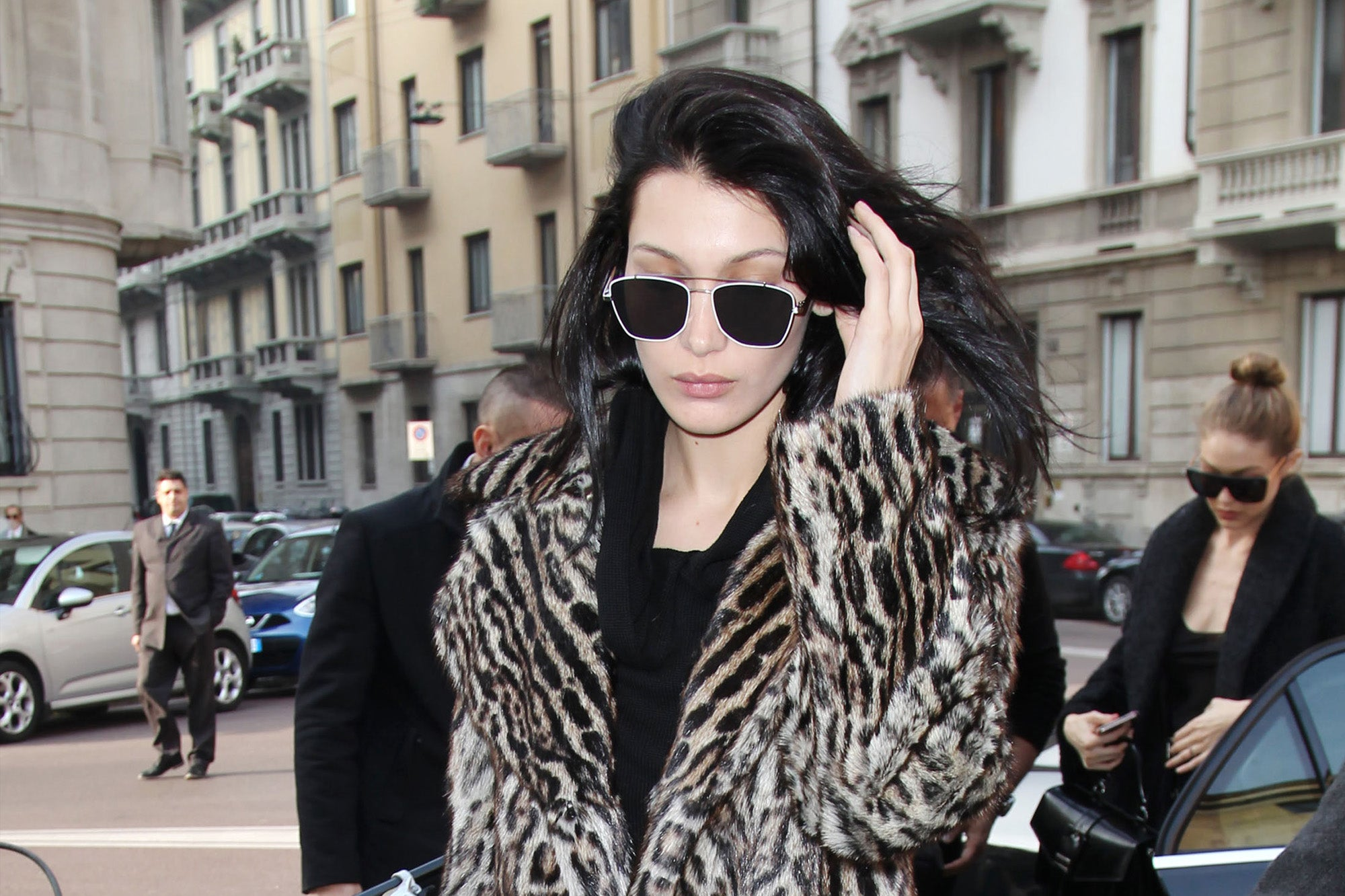 Hadid in Real Fur