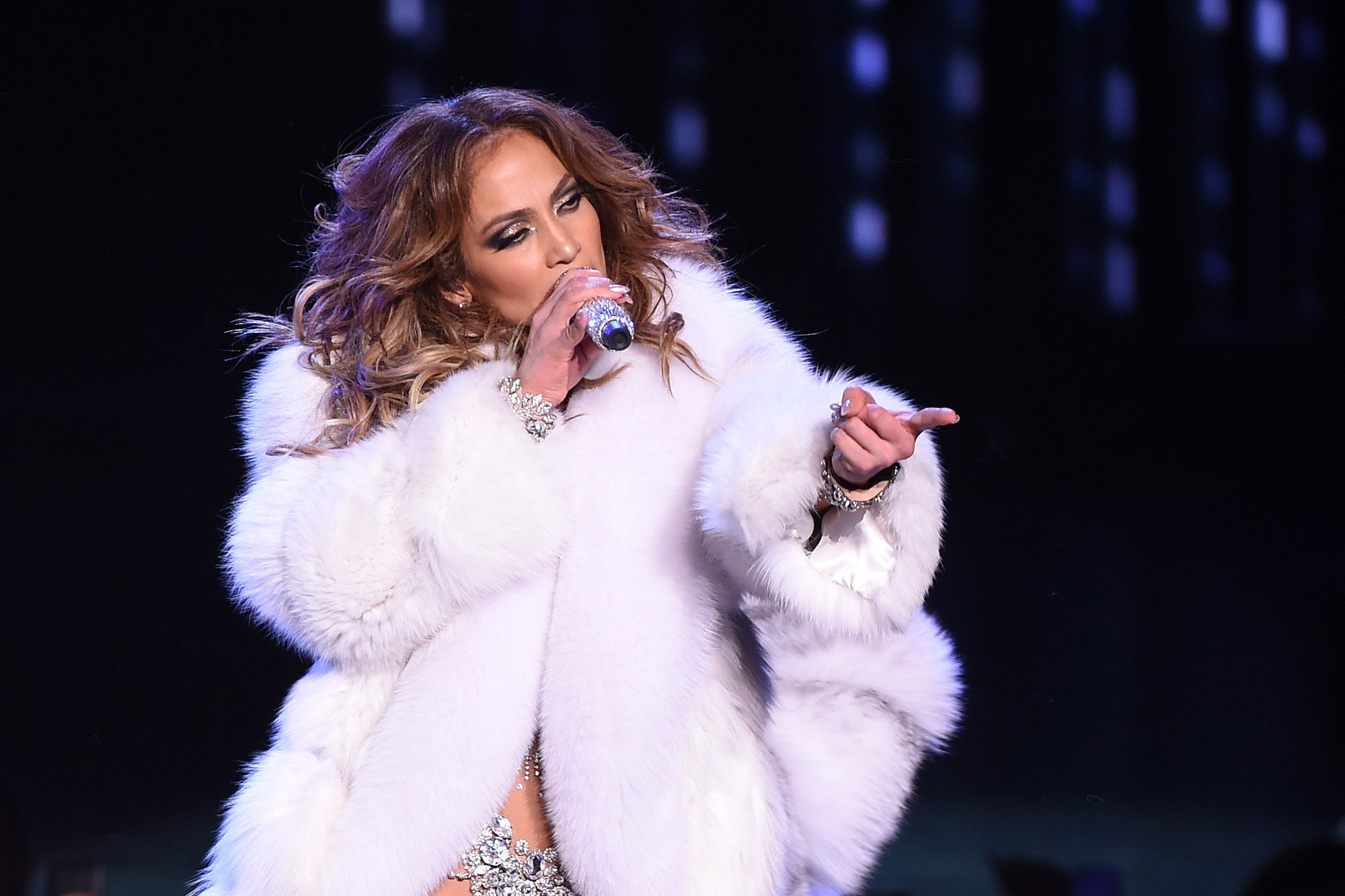 J Lo in Real Fur