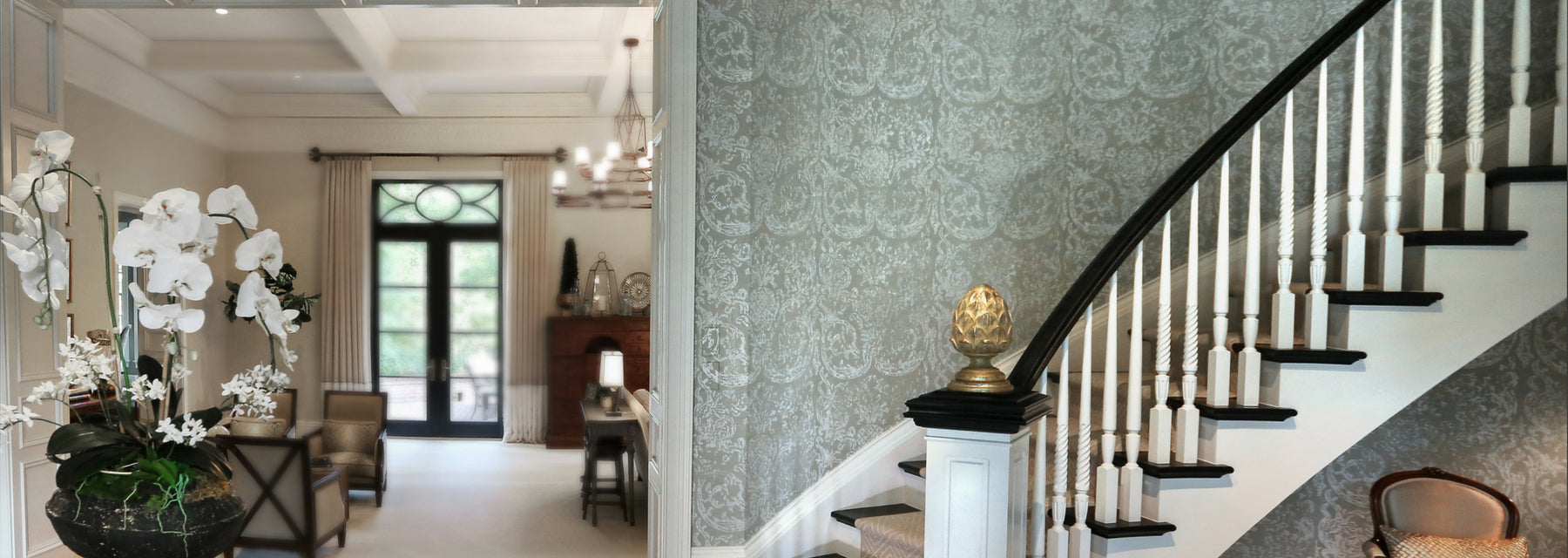 Hand Printed Wall Covering