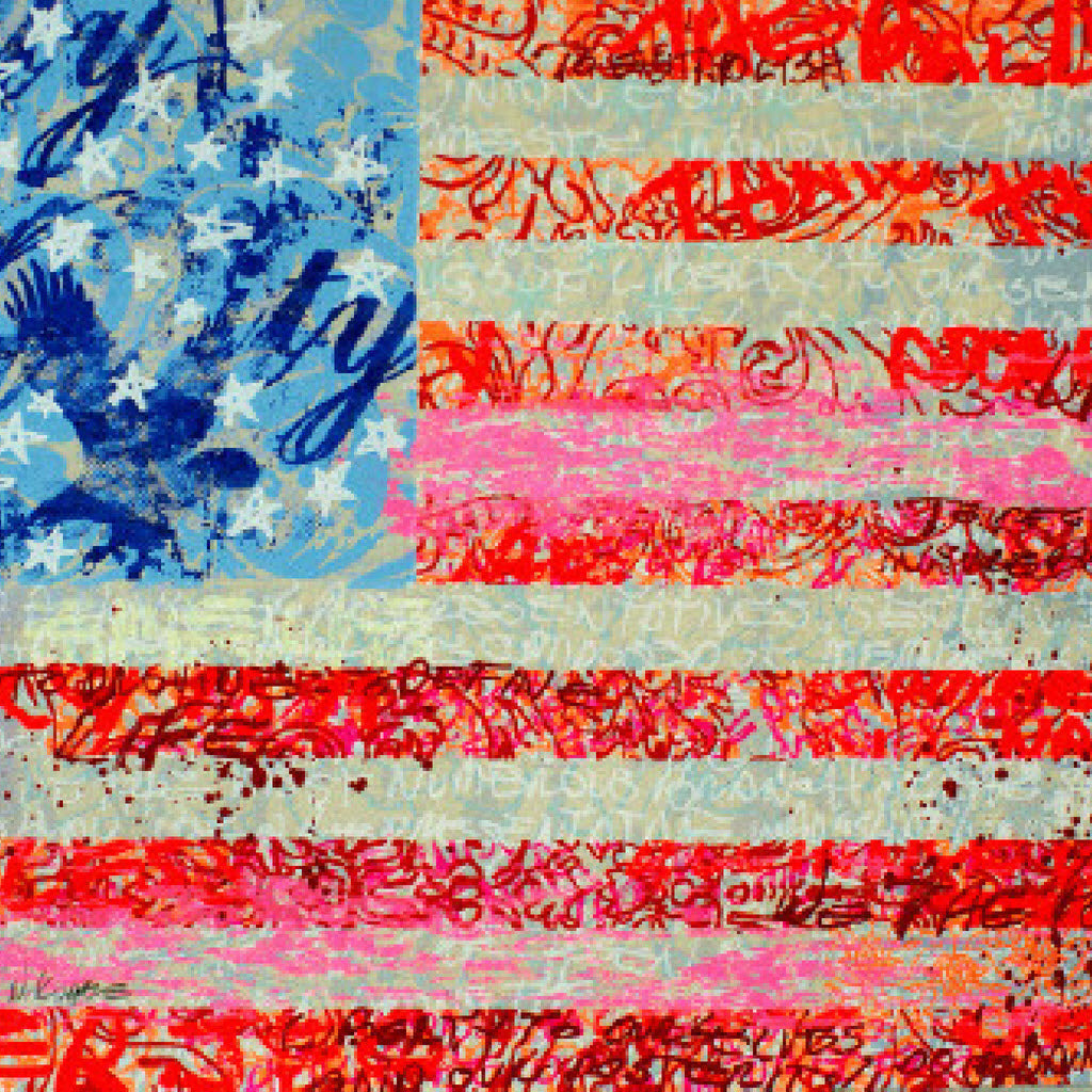 Walter Knabe Artwork Flag II Limited Edition Screenprint