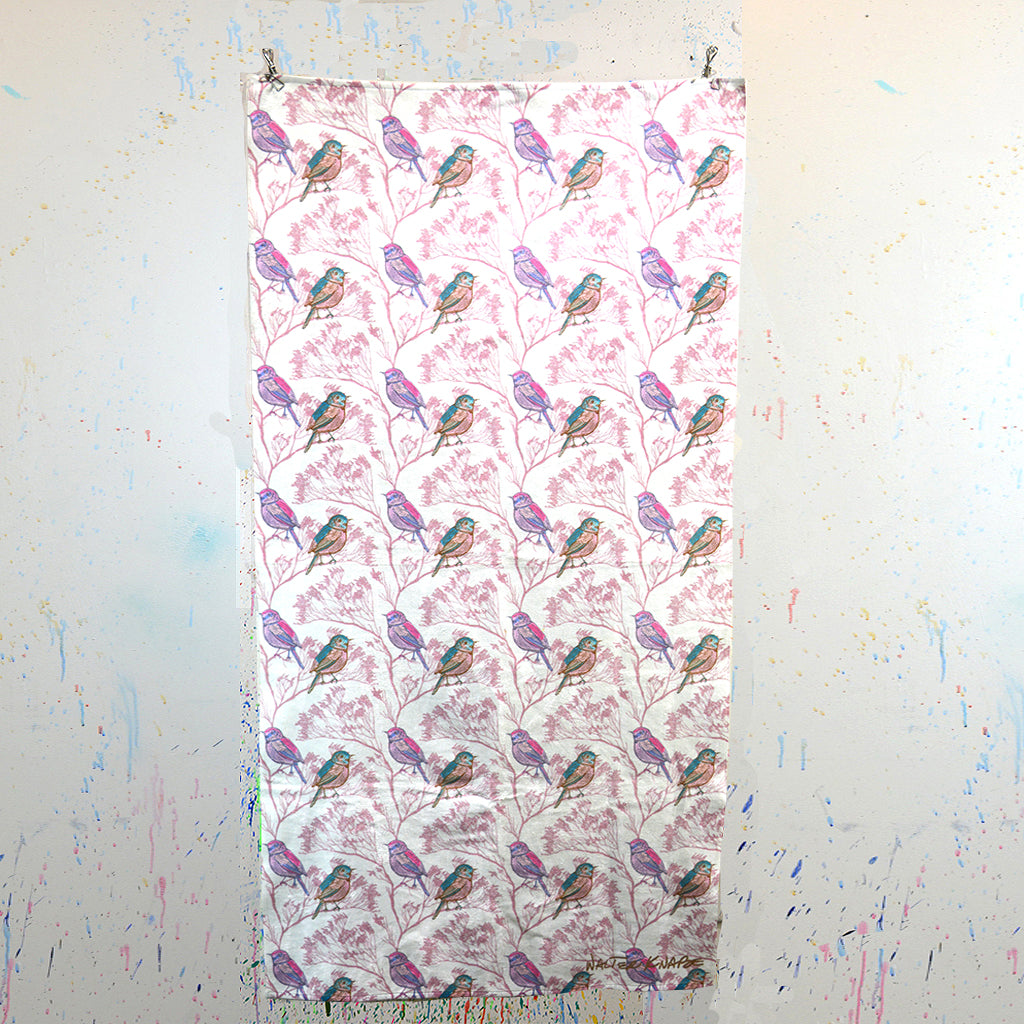 Walter Knabe Beach Towel Spring Birds