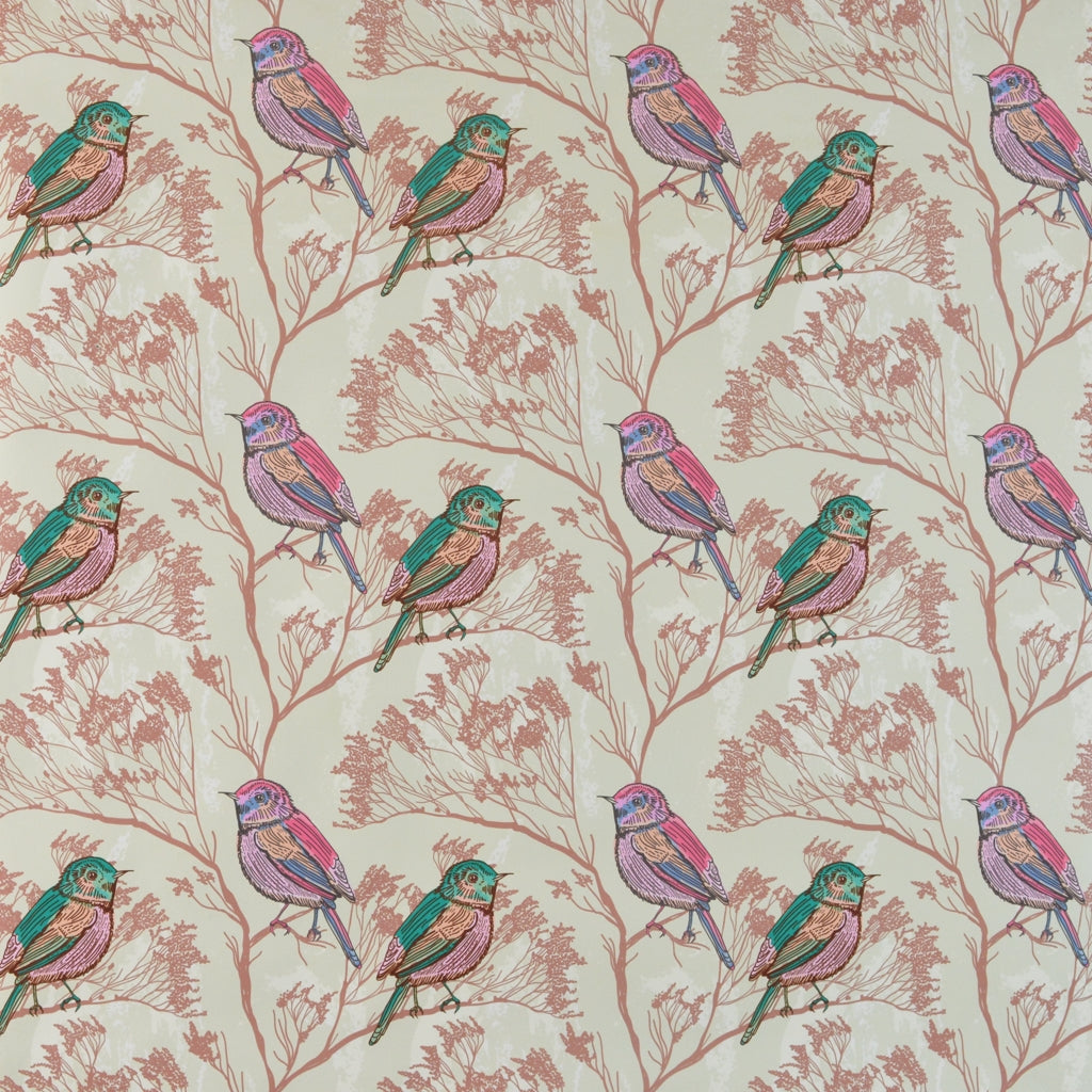 Walter Knabe Spring Birds Machine Printed Fabric