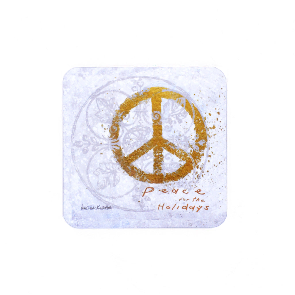 Walter Knabe Coaster Set Peace For The Holidays