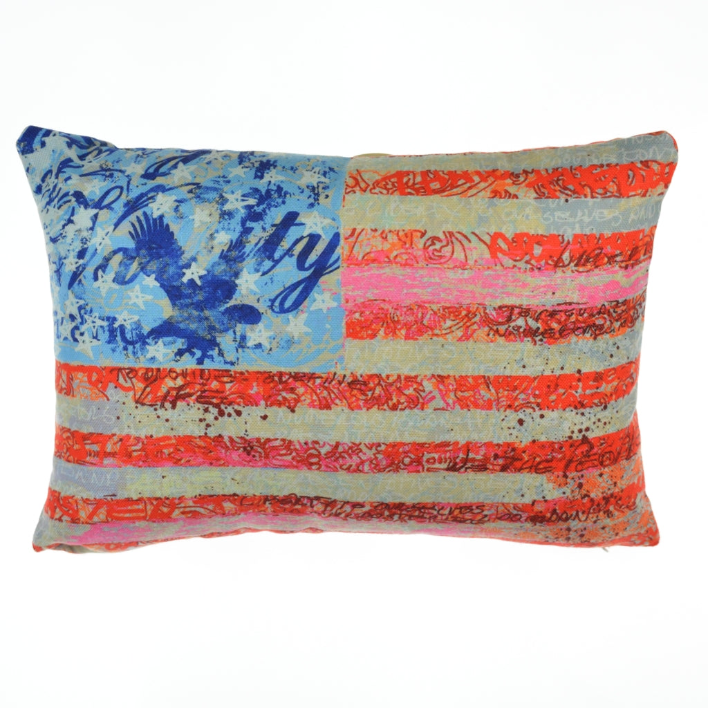 Walter Knabe Lumbar Pillow Flag