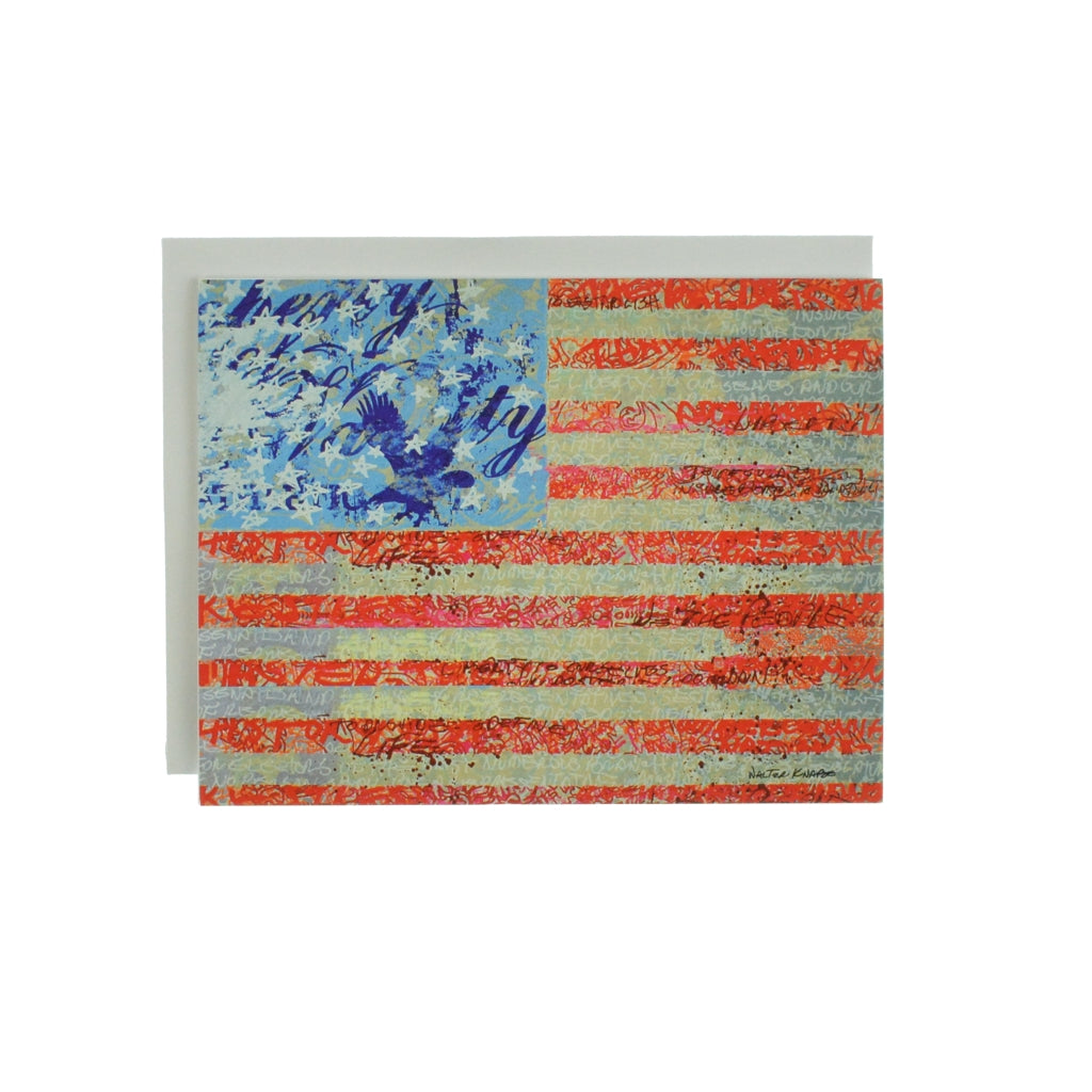 Walter Knabe Notecard Set Flag
