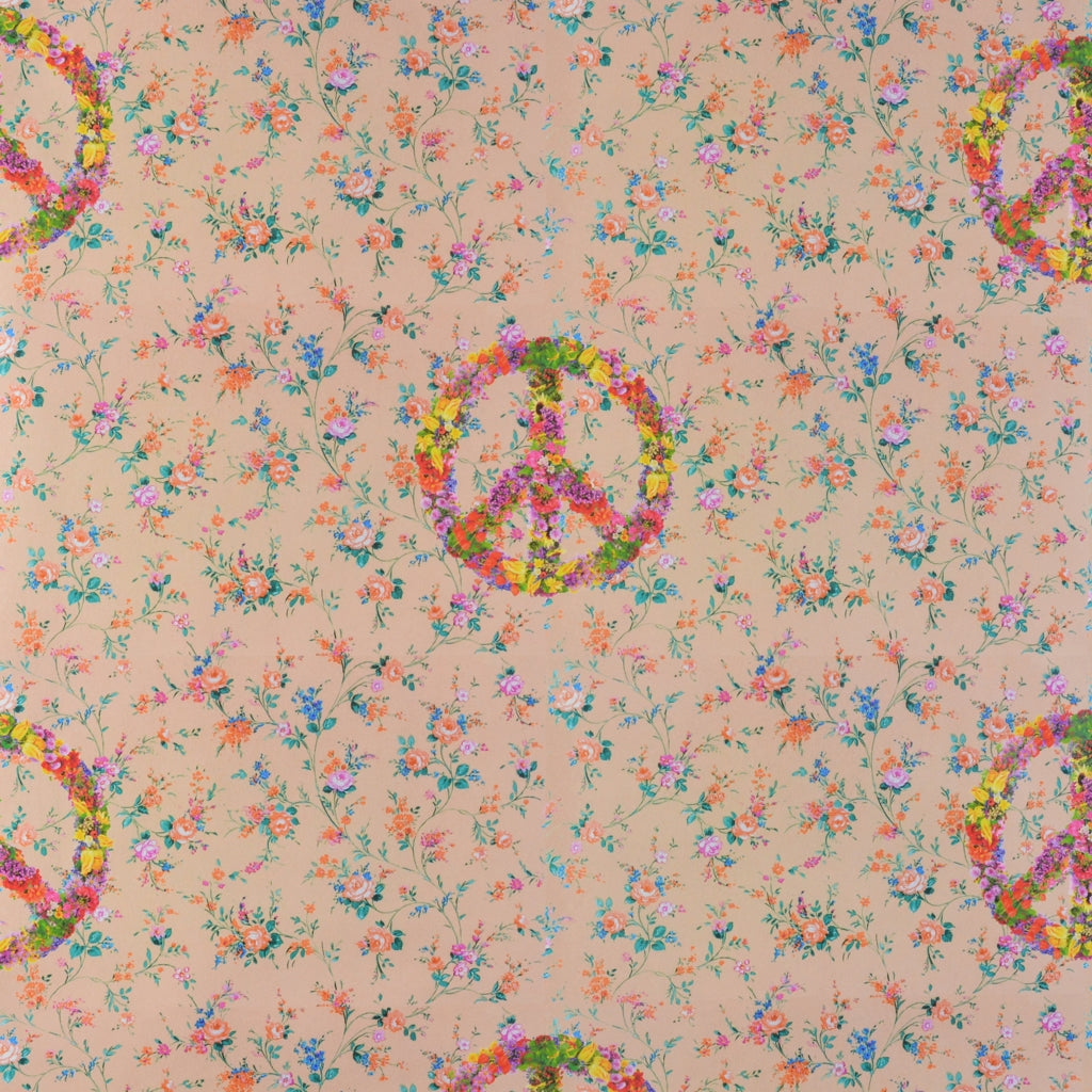 Walter Knabe Floral Peace Machine Printed Fabric