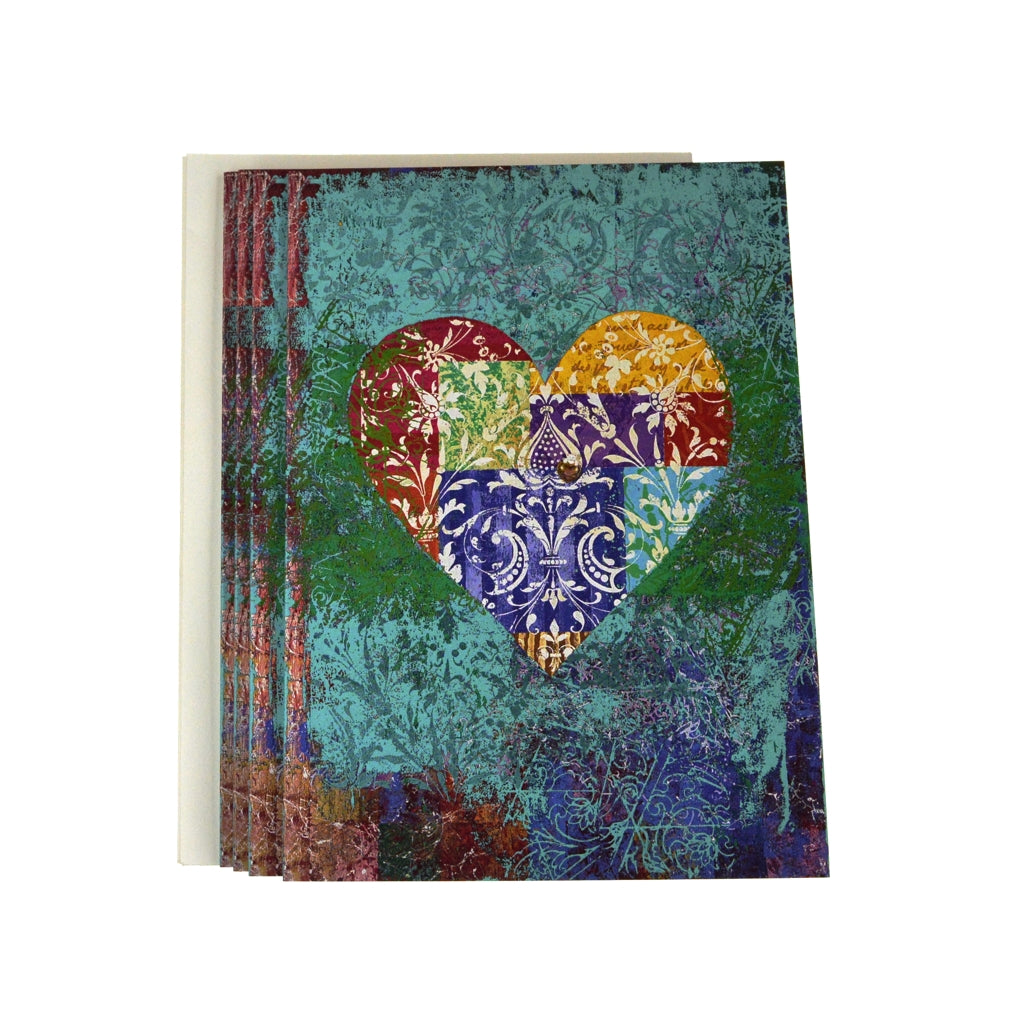 Walter Knabe Notecard Set Heart Patchwork