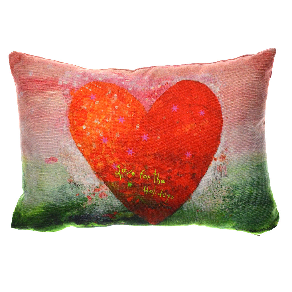 Walter Knabe Lumbar Pillow Holiday Love For The Holidays
