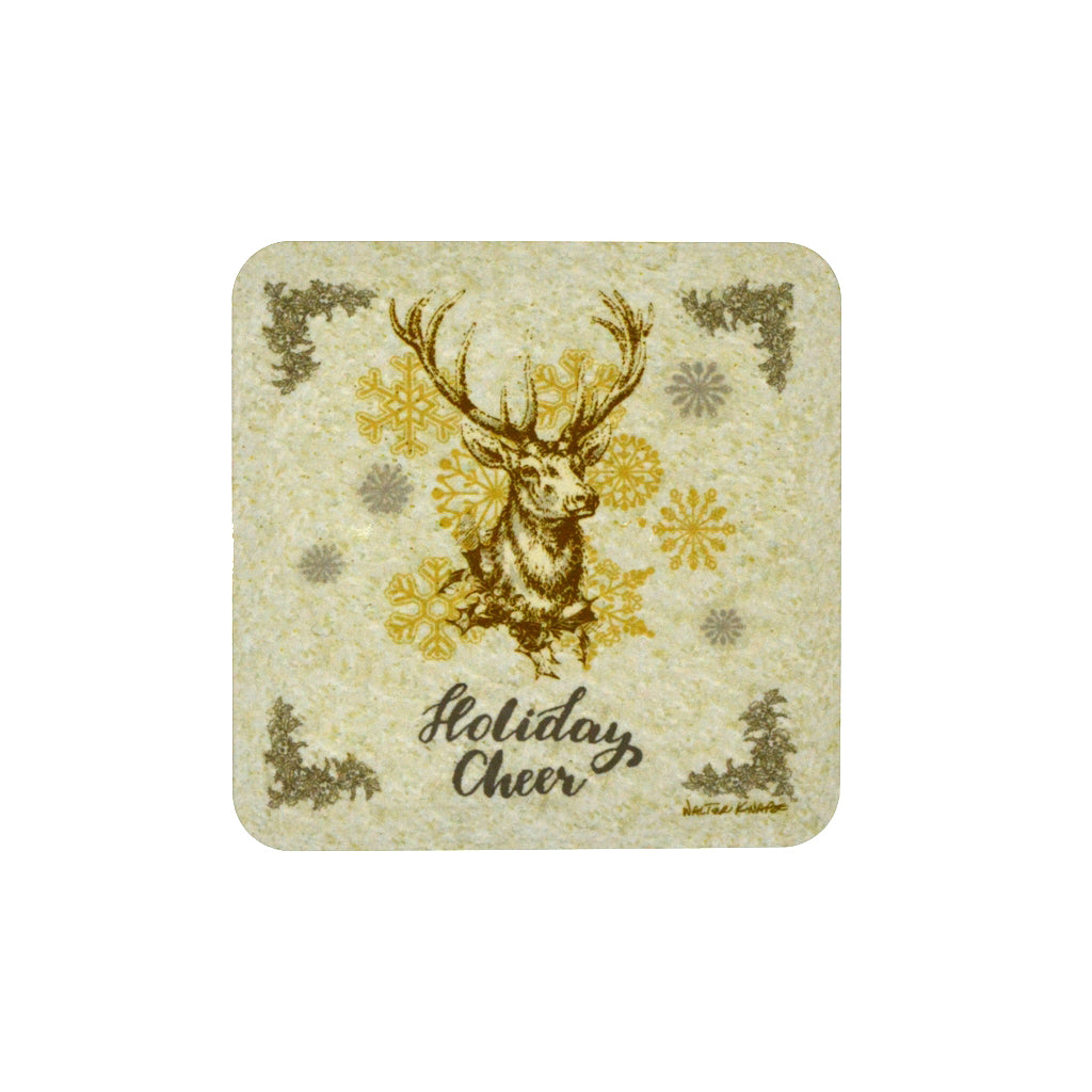 Walter Knabe Holiday Coaster Set Holiday Deer