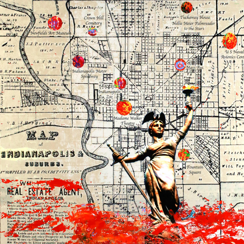 Walter Knabe Artwork Indianapolis Limited Edition Mixed Media