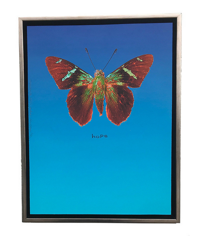 Walter Knabe Artwork Butterfly Hope Limited Edition Mixed Media