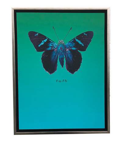 Walter Knabe Artwork Butterfly Faith Limited Edition Mixed Media