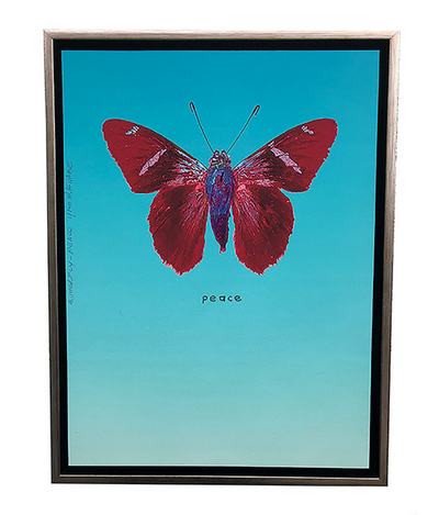 Walter Knabe Artwork Butterfly Peace Limited Edition Mixed Media