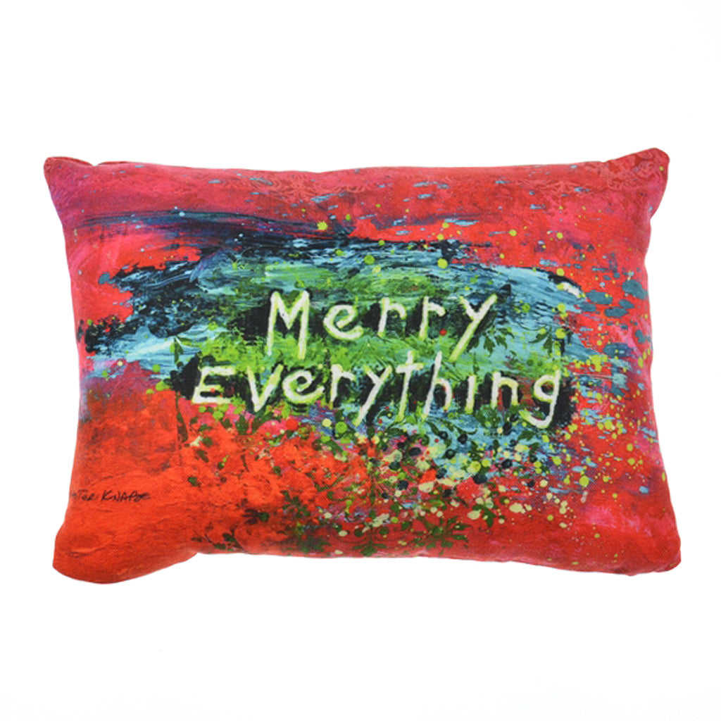 Walter Knabe Lumbar Pillow Holiday Merry Everything