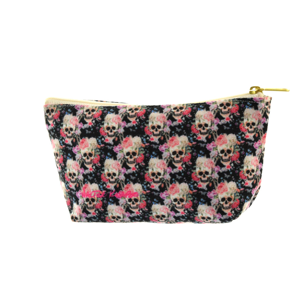 Walter Knabe Pouch Skull Floral
