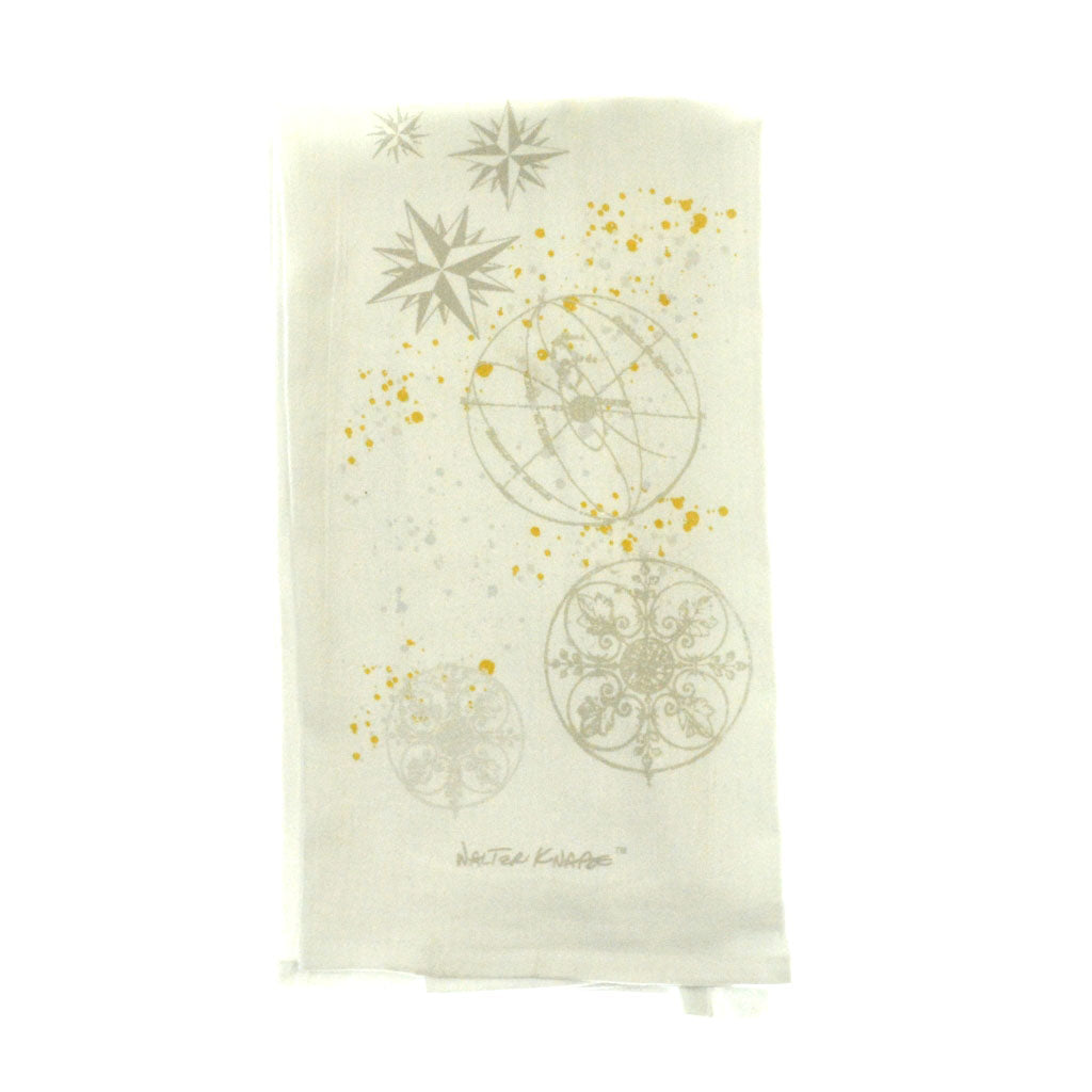 Walter Knabe Tea Towel Astrological Orbit Taupe