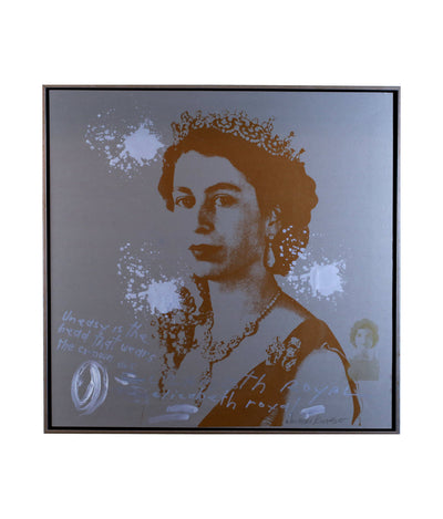 Walter Knabe Artwork The Crown Unique Screenprint with Hand Painting