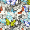 Walter Knabe Butterfly Garden Machine Printed Wall Covering