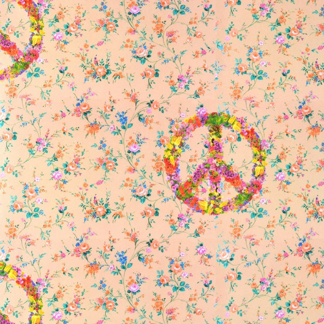 Walter Knabe Floral Peace Machine Printed Wall Covering