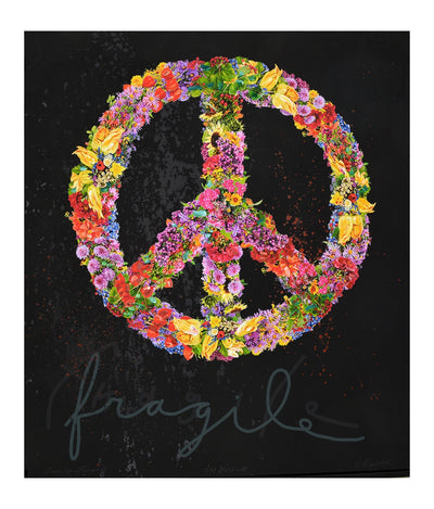 Walter Knabe Artwork Peace Fragile Unique Mixed Media