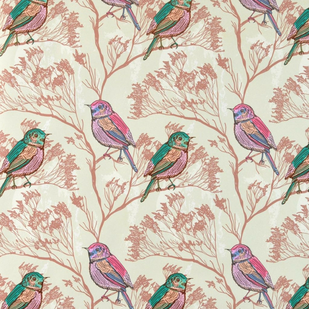 Walter Knabe Spring Birds Machine Printed Wall Covering