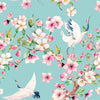 Walter Knabe Cherry Blossom Machine Printed Wall Covering
