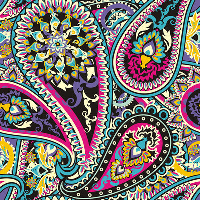 Walter Knabe Dancing Paisley Machine Printed Wall Covering