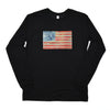 Walter Knabe Unisex Long Sleeve T Shirt Flag Black