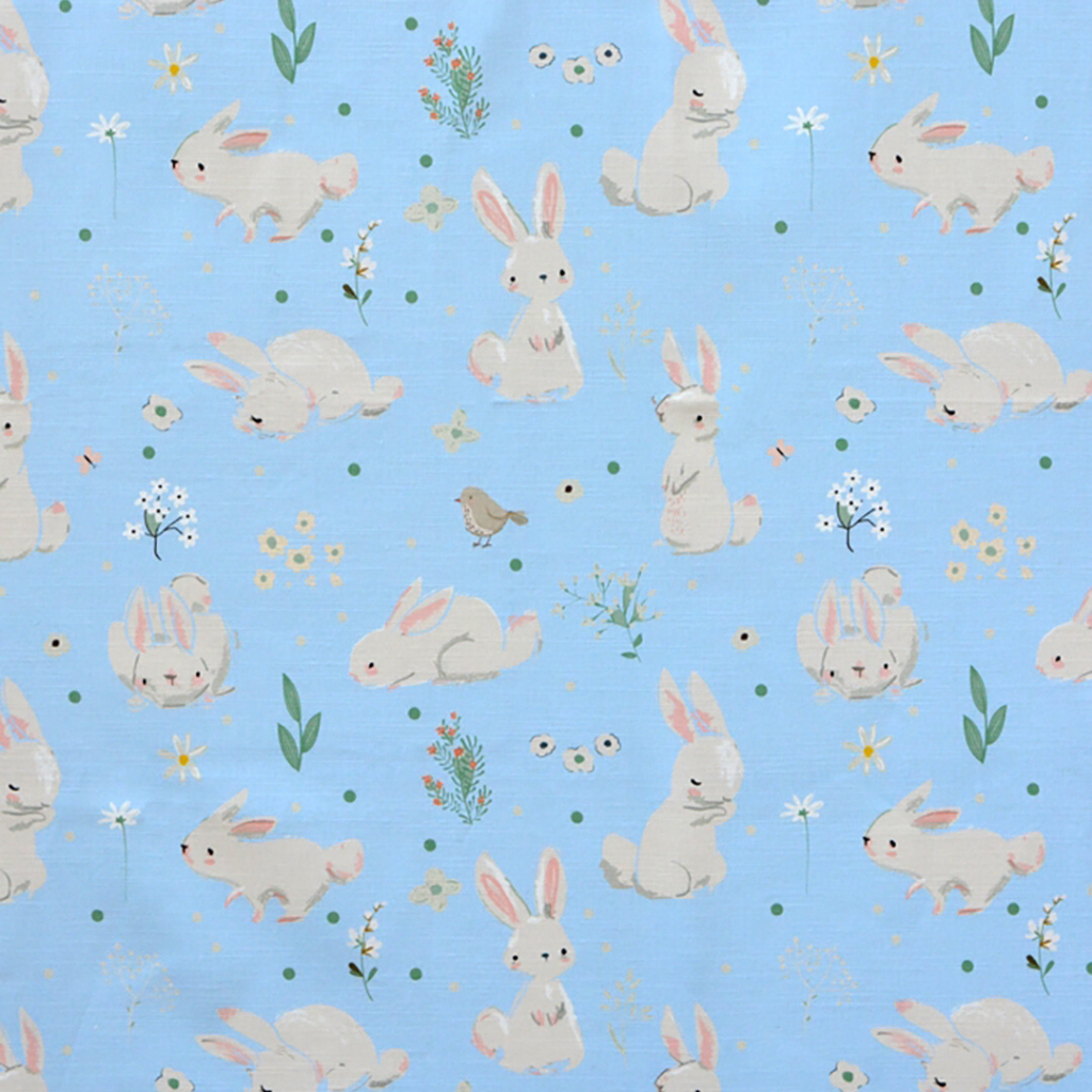 Walter Knabe Wellington Bunnies Machine Printed Fabric