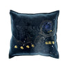 Walter Knabe Pillow Hand Printed Black Scroll Dreams