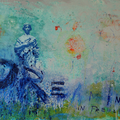 Walter Knabe Artwork Dreaming in French II Original Painting - SOLD