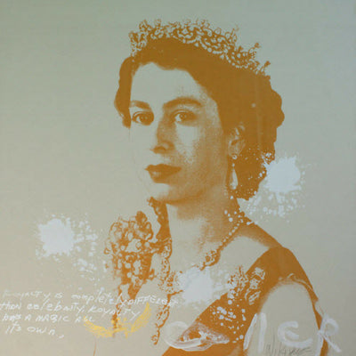 Walter Knabe Artwork Elizabeth Royal II Unique Screenprint - SOLD