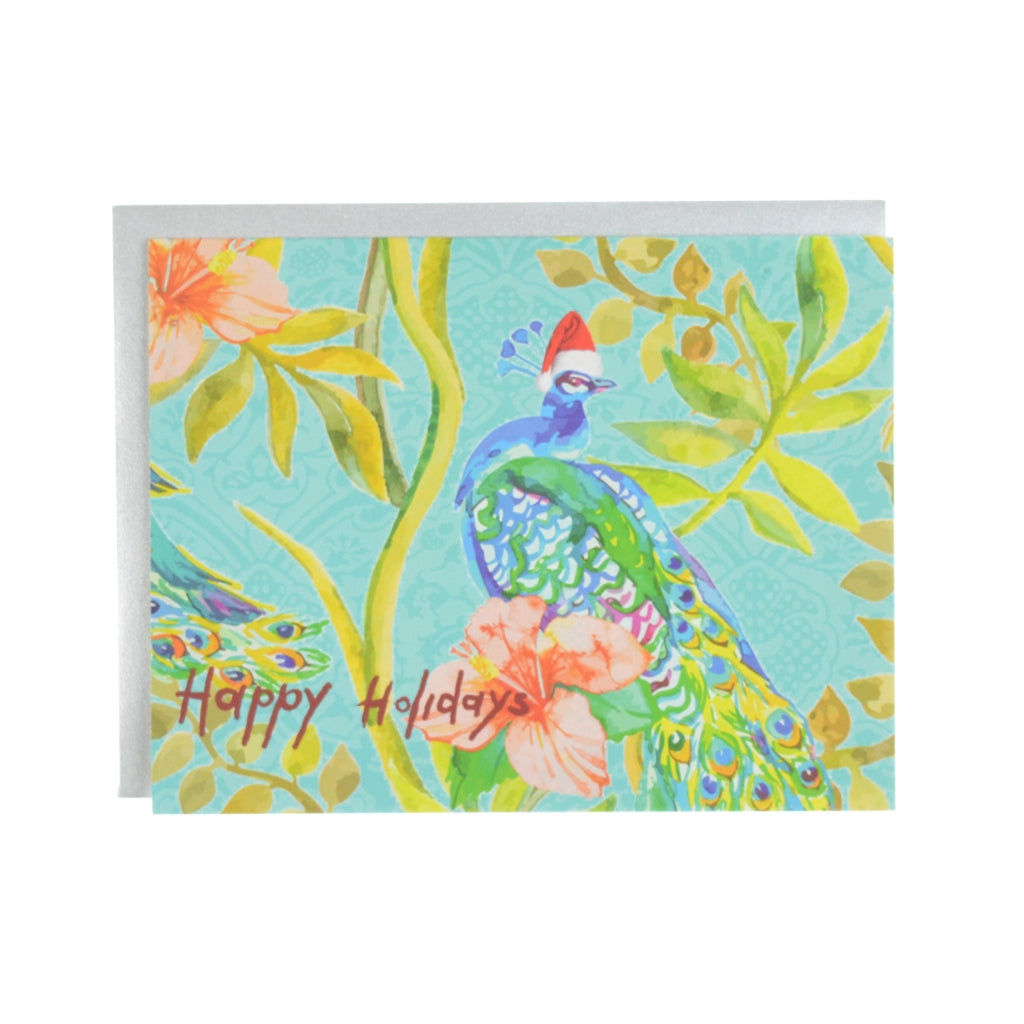 Walter Knabe Holiday Notecard Set Holiday Peacock