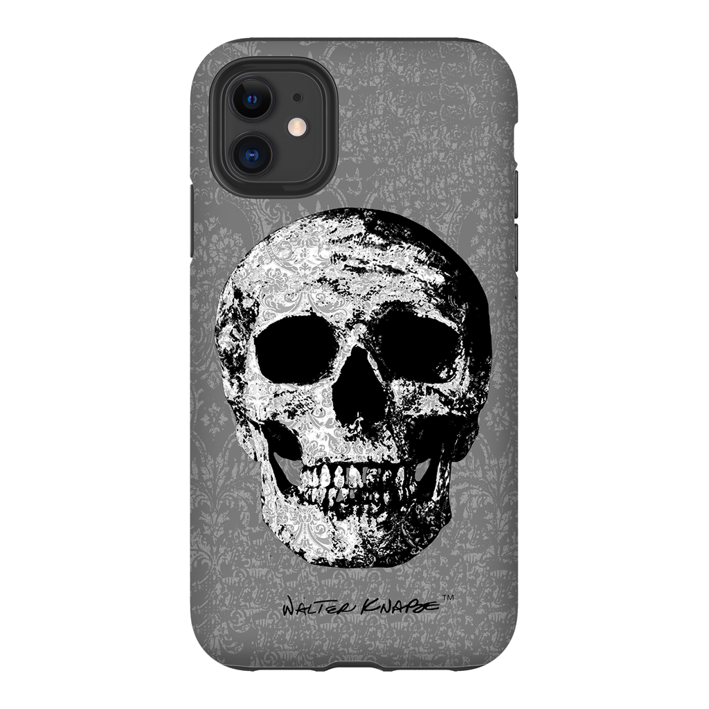 Walter Knabe iPhone Tough Case Skull Grey
