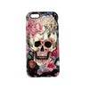 Walter Knabe iPhone Tough Case Skull Floral Black
