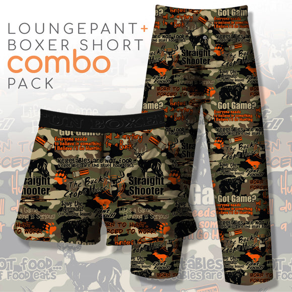 Hunting Phrases Camo (Pant+Boxer)
