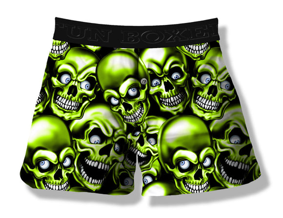 Creepy Skulls Green