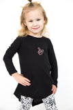 Open Back Long Sleeve Kids Tee- Texas Tech