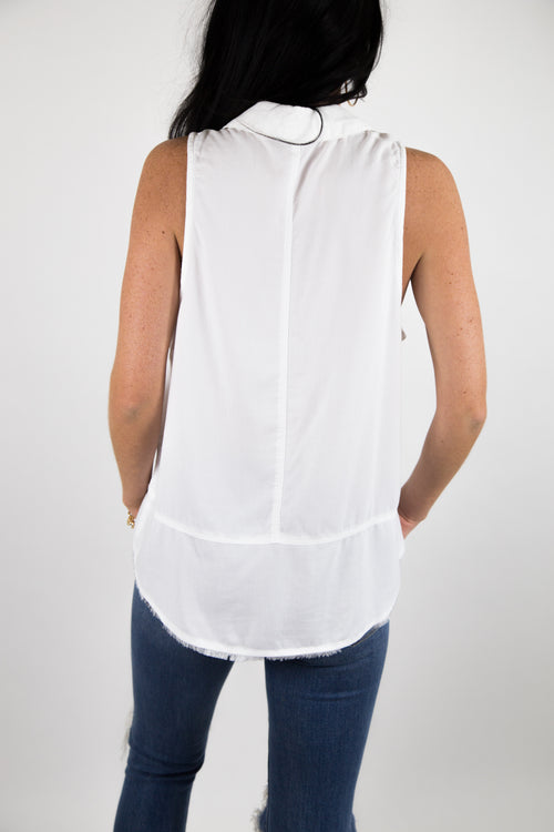 SLEEVELESS BUTTON DOWN - SMU
