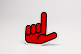 GUNS UP STICKER