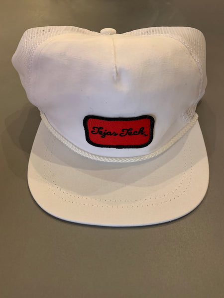 Tejas Tech Red Patch Trucker (white)