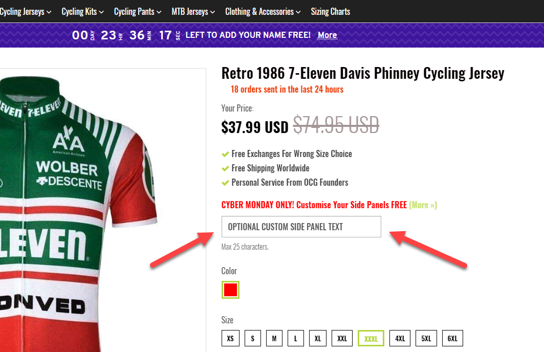 Add Text to Cycling Jerseys