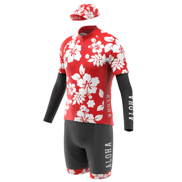 Men's Ultimate Hawaiian Aloha Cycling Kit Bundle