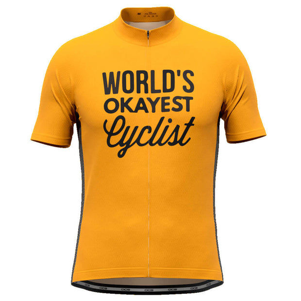 Men's World's Okayest Cyclist High Viz Cycling Jersey