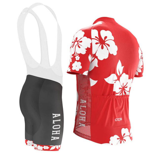 Men's Hawaiian Shirt Aloha Floral Pro-Band Cycling Kit
