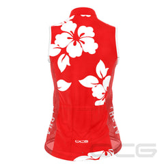 Women's Hawaiian Aloha Floral Sleeveless Cycling Jersey
