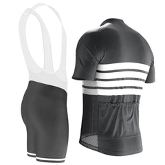 Men's Retro Four Stripe Men's Black Cycling Kit