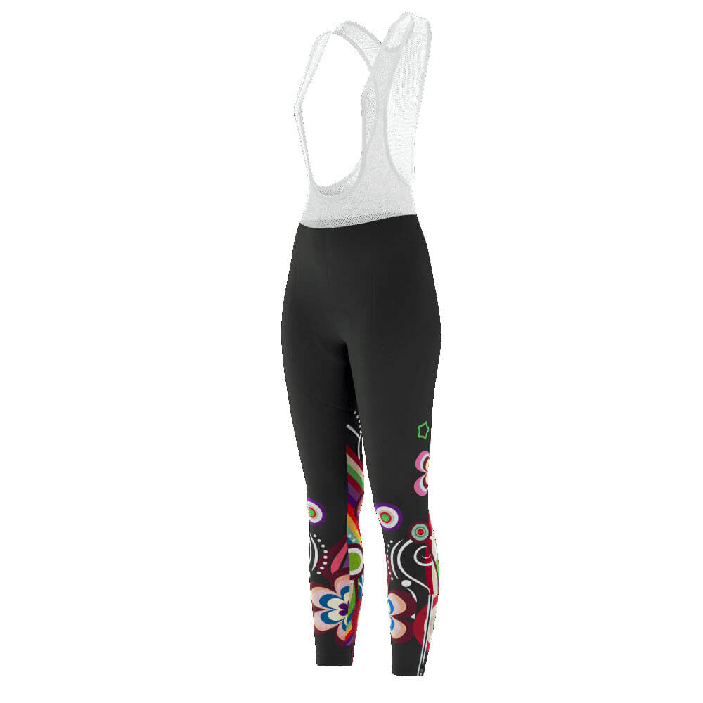 Women's Floral Swirl Full-Length Cycling Bib Tights